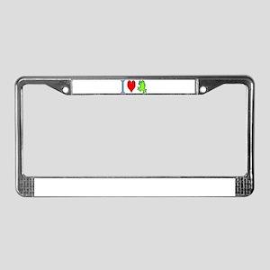 I Heart Frog License Plate Frame