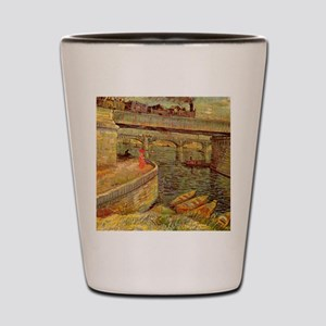 Van Gogh Bridges Across the Seine Shot Glass