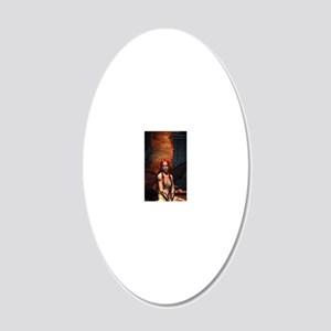 The Bored Demon 20x12 Oval Wall Decal