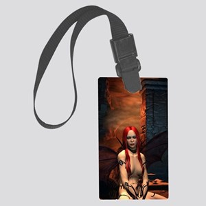 The Bored Demon Large Luggage Tag