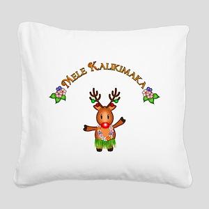 Mele Kalikimaka Square Canvas Pillow
