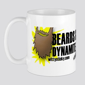 Beards...Dynamite...Fishing Mug