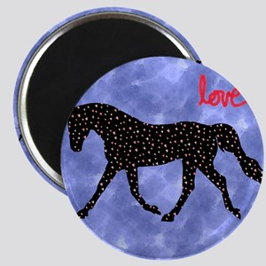 Horse Love with Hearts Magnet