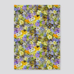 Spring Flowers 5'x7'Area Rug