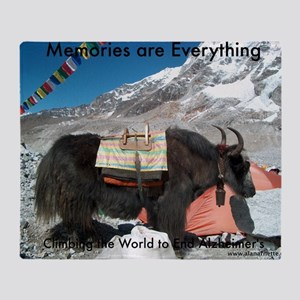 Climbing the World to End Alzheimers Throw Blanket