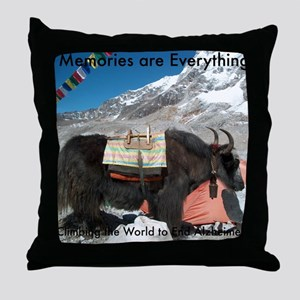 Climbing the World to End Alzheimers™ Throw Pillow