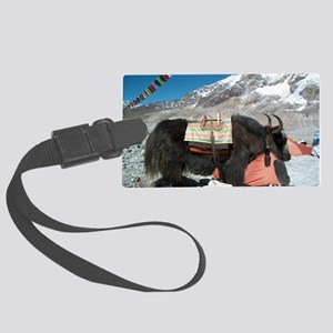 Climbing the World to End Alzhei Large Luggage Tag