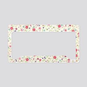 tiny floral dainty License Plate Holder