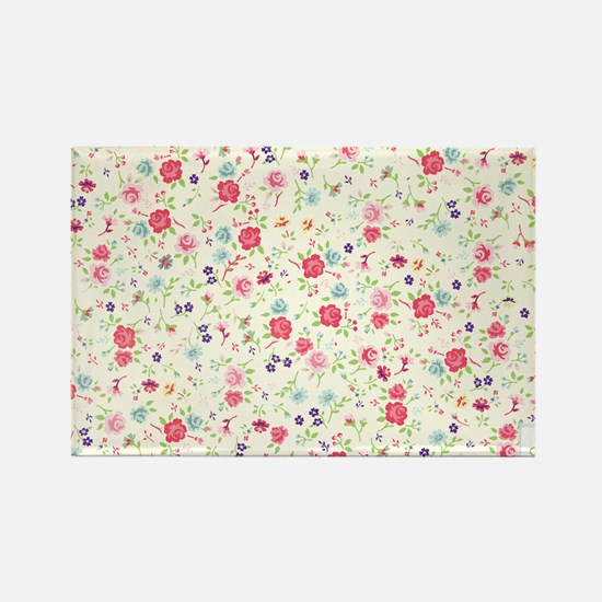 tiny floral dainty Rectangle Magnet