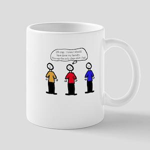 Never Wear A Red Shirt Mug