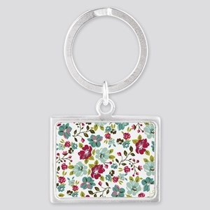 plum seed floral Landscape Keychain