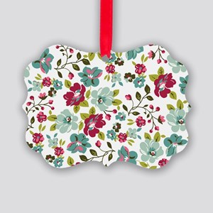 plum seed floral Picture Ornament