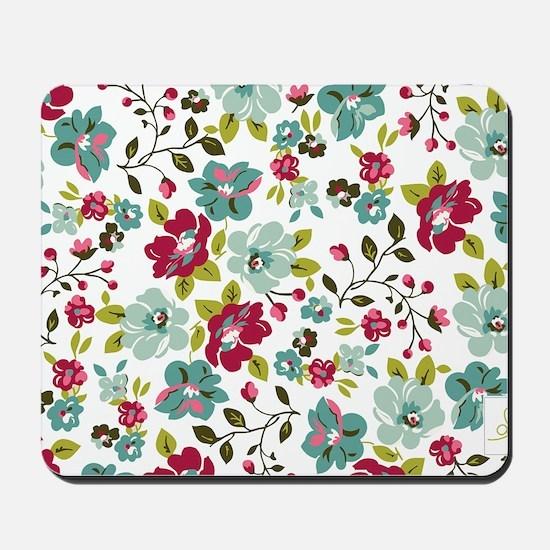 plum seed floral Mousepad
