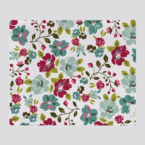 plum seed floral Throw Blanket