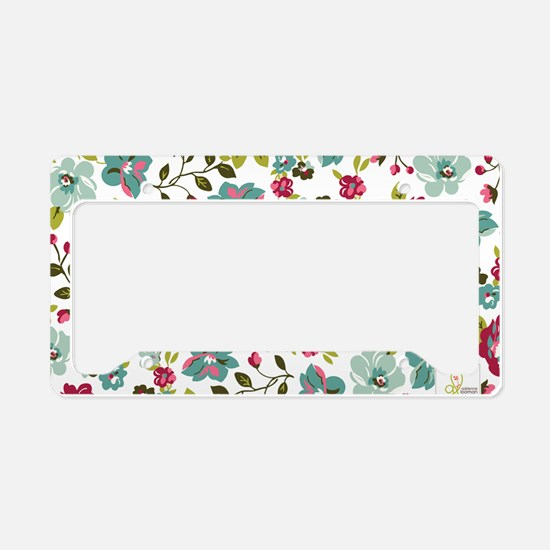plum seed floral License Plate Holder