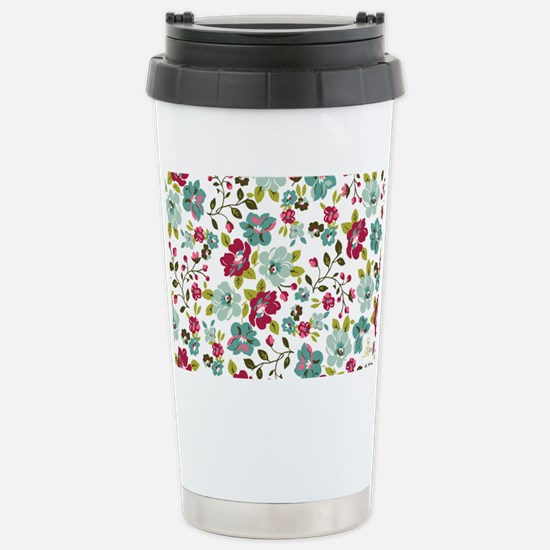 plum seed floral Stainless Steel Travel Mug