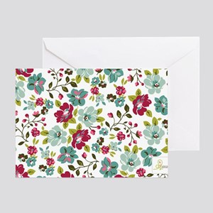 plum seed floral Greeting Card