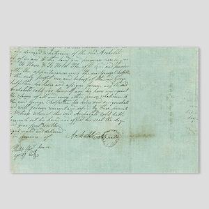 blue script Postcards (Package of 8)