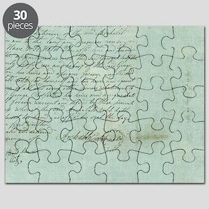 blue script Puzzle