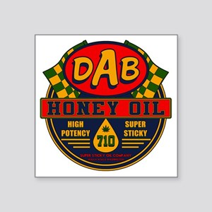 "DAB Honey Oil 710 Square Sticker 3"" x 3"""