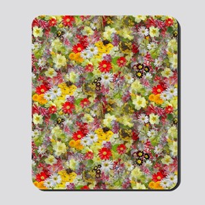 Red and Yellow Spring Flowers Mousepad