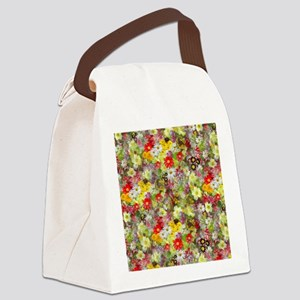 Red and Yellow Spring Flowers Canvas Lunch Bag