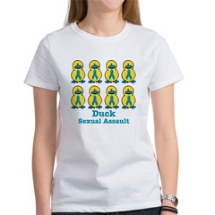 Sexual Assault Awareness Ribbon Ducks Women's T-Sh