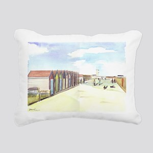 Beach Huts Rectangular Canvas Pillow