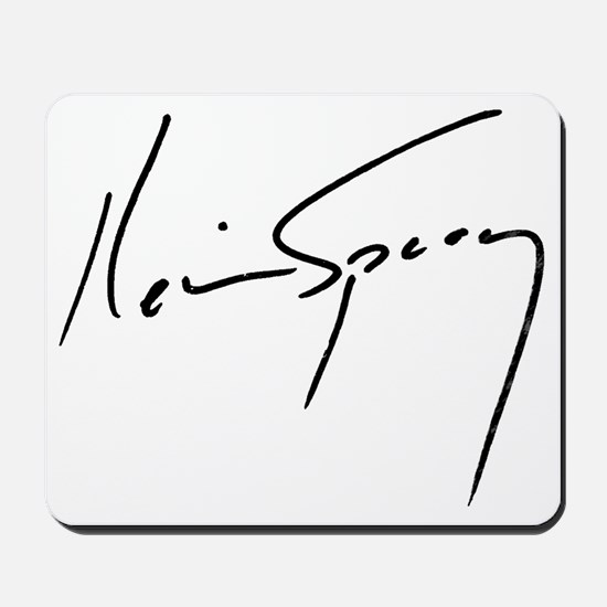 Kevin Spacey Signature Mousepad