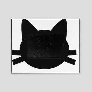 Black cat face design Picture Frame