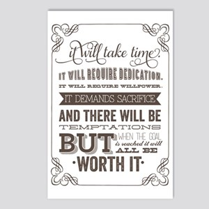 worth it quote Postcards (Package of 8)