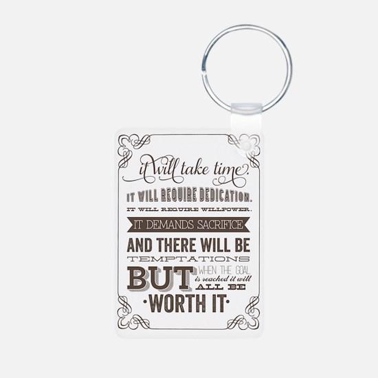 worth it quote Keychains