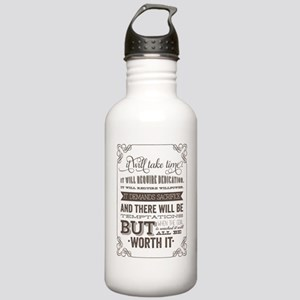 worth it quote Stainless Water Bottle 1.0L
