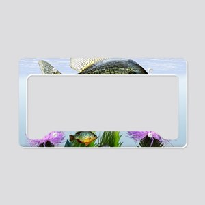 Crappie art License Plate Holder