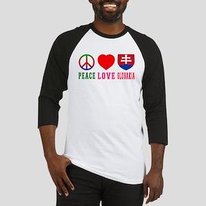 Peace Love Slovakia Baseball Jersey