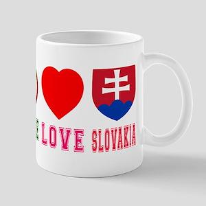 Peace Love Slovakia Mug