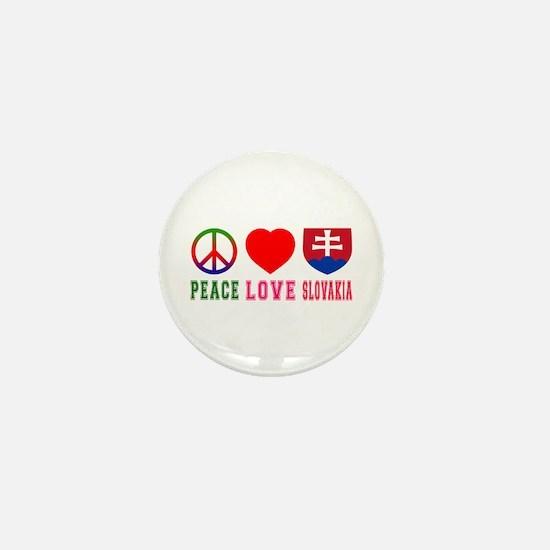 Peace Love Slovakia Mini Button