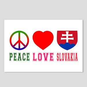 Peace Love Slovakia Postcards (Package of 8)