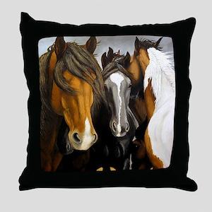 Storms Brewin Throw Pillow