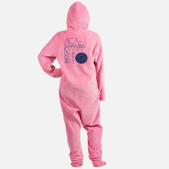 ACA-WHAT Footed Pajamas