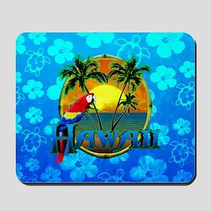 Hawaii Sunset Blue Honu Mousepad