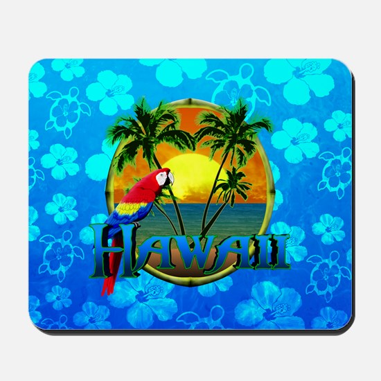 Hawaii Sunset Blue Honu Mousepad