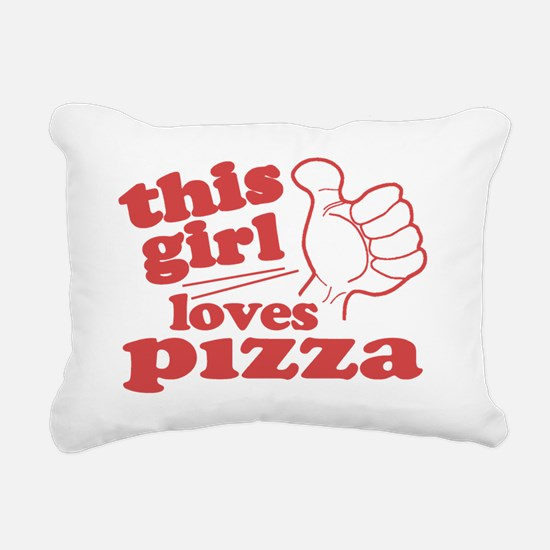 This Girl Loves Pizza Rectangular Canvas Pillow