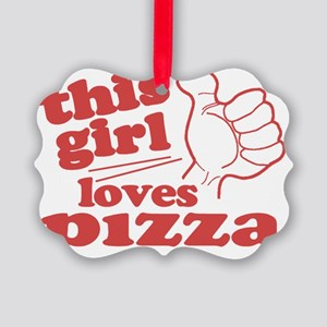 This Girl Loves Pizza Picture Ornament