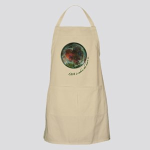 OM is where the heart is round Nine image Apron
