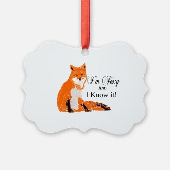 Unique Foxy Ornament
