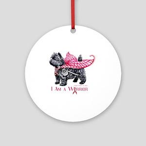 Carin Cancer Warrior Round Ornament
