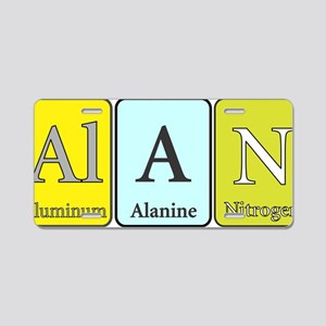 Alan Aluminum License Plate