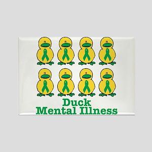Duck Mental Illness Awareness Ribbon Ducks Rectang