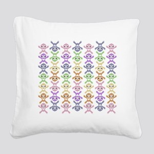Baby Rainbow Sloth Square Canvas Pillow